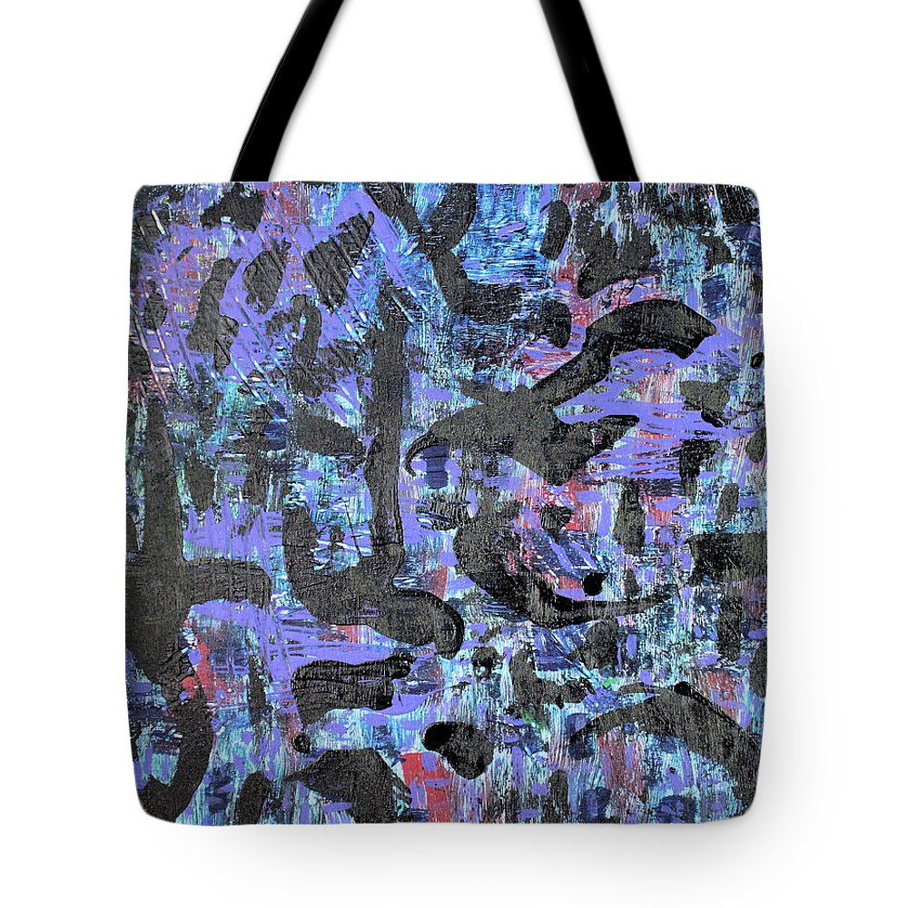 Tote Bag featuring the painting Night Flight by Pam Roth O'Mara
