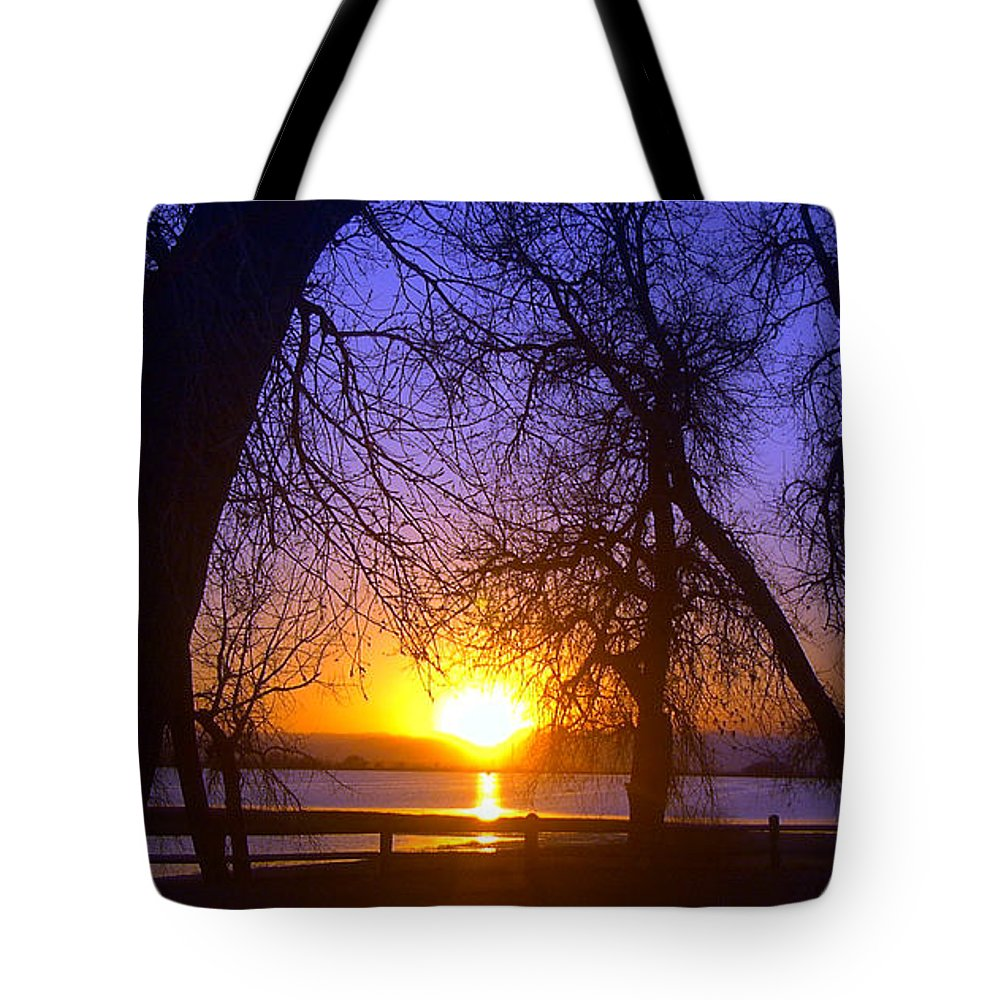 Barr Lake Tote Bag featuring the photograph Night In Barr Lake Colorado by Merja Waters