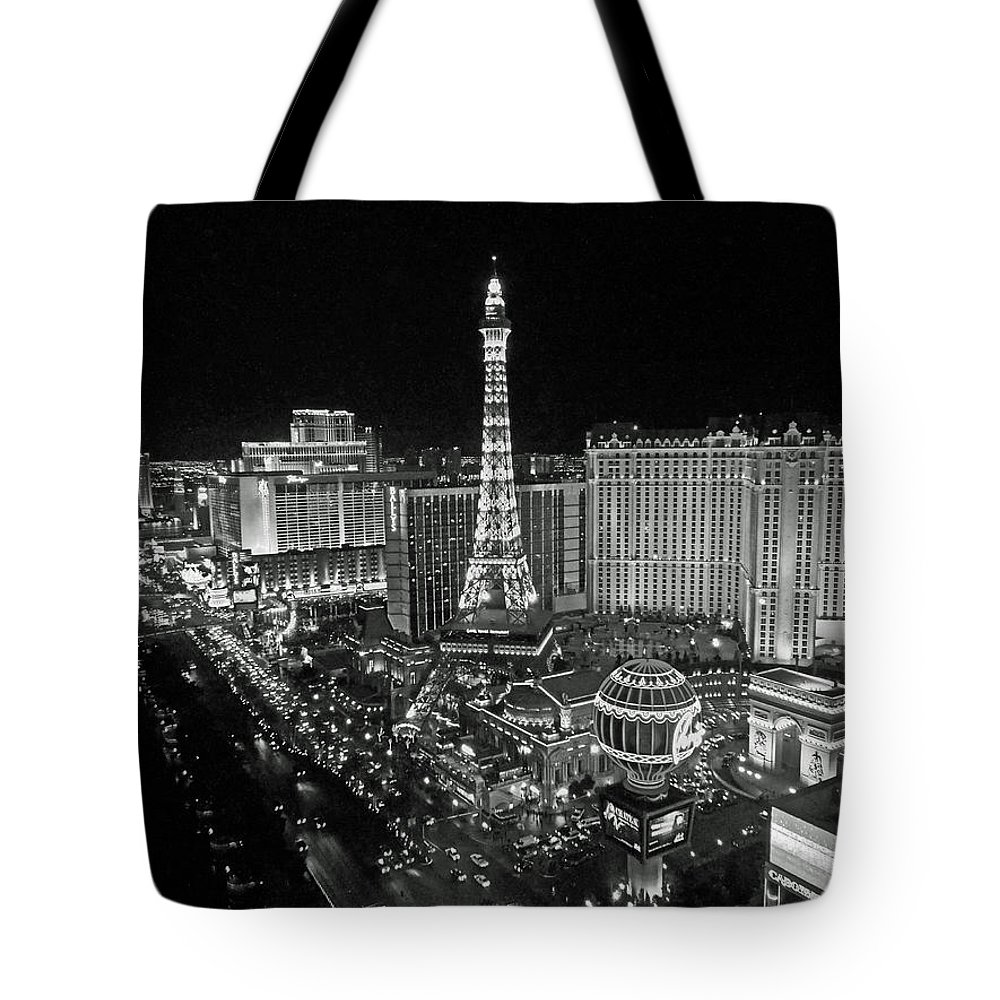 Architecture Tote Bag featuring the photograph night in Vegas by Dale Chapel