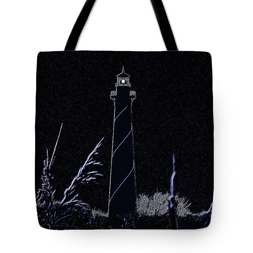 Light Tote Bag featuring the photograph Night Light - Digital Art by Al Powell Photography USA