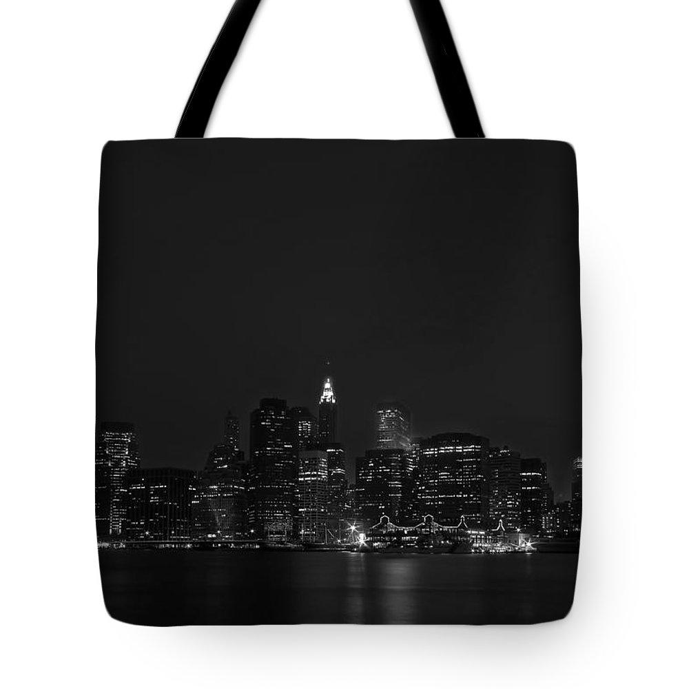 Bridge Tote Bag featuring the photograph Night Lights by Evelina Kremsdorf
