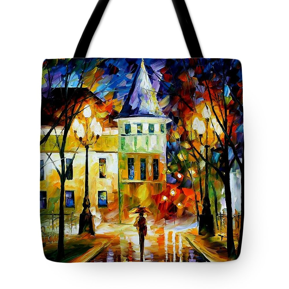 Afremov Tote Bag featuring the painting Night Magic by Leonid Afremov