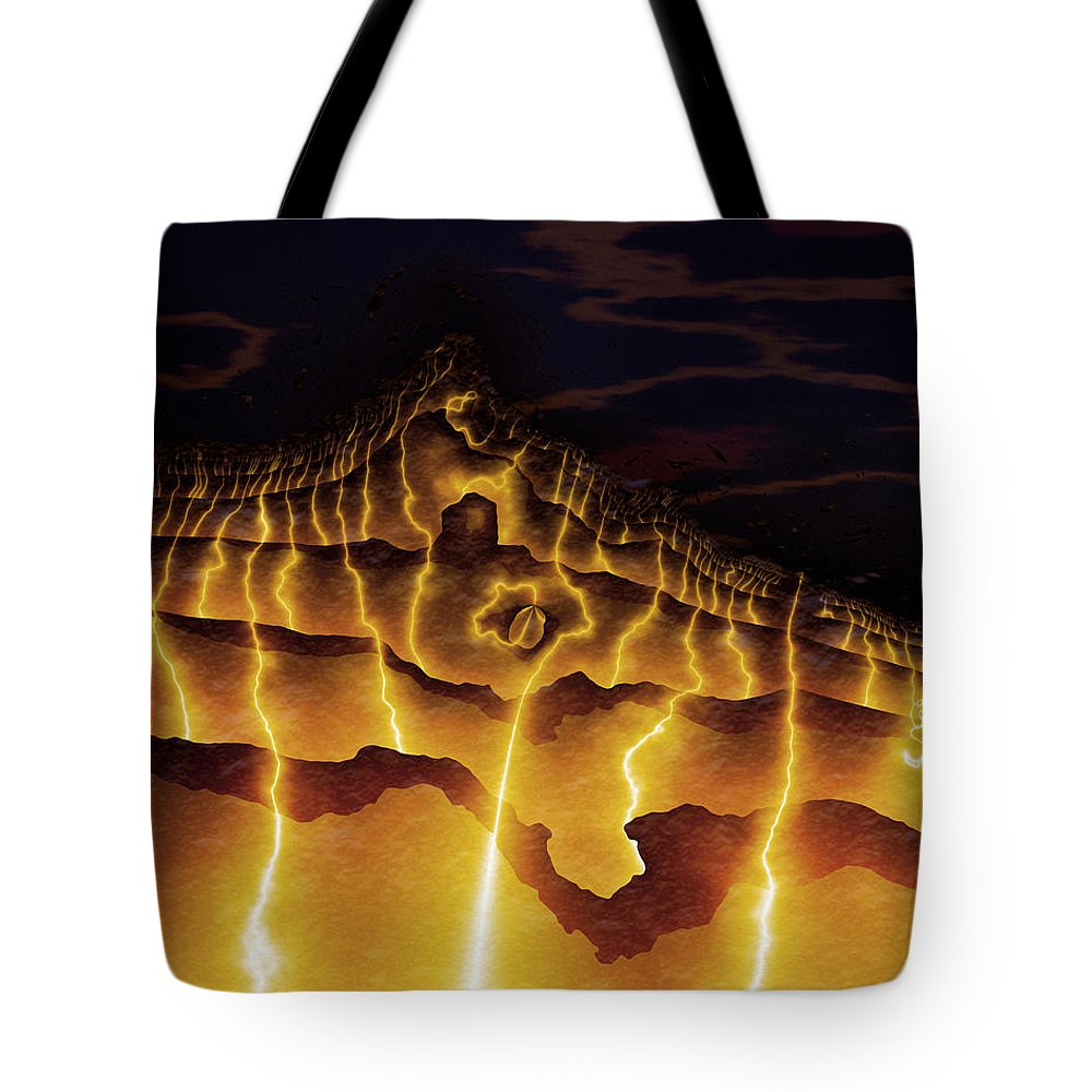 Vic Eberly Tote Bag featuring the digital art Night On Bald Mountain by Vic Eberly