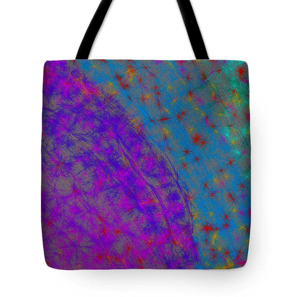 Abstract Tote Bag featuring the digital art Night Rainbow by Bryan Fuller