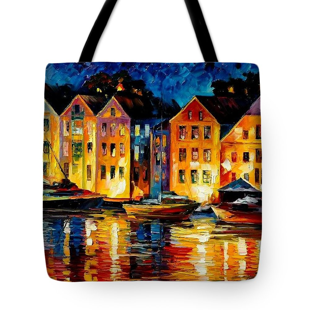 City Tote Bag featuring the painting Night Resting Original Oil Painting by Leonid Afremov