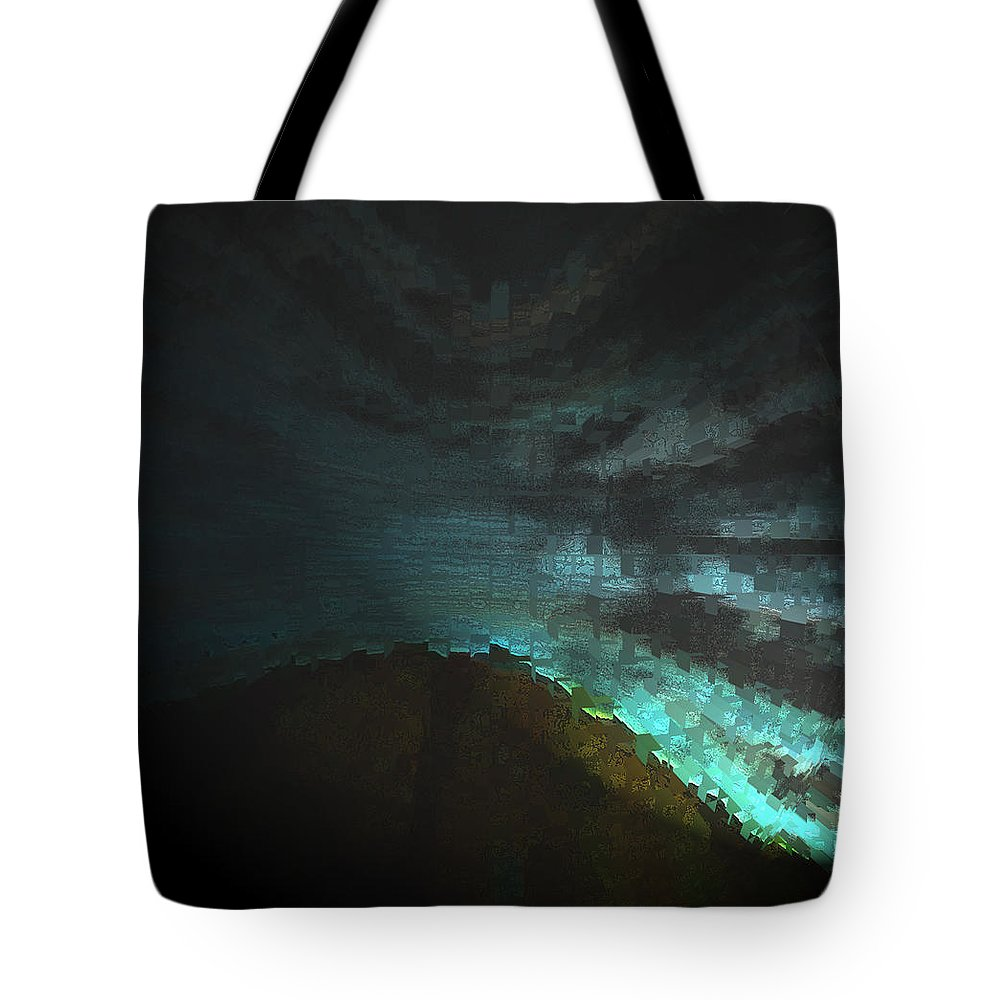 Abstract Tote Bag featuring the digital art Night Scene 2 by Lenore Senior