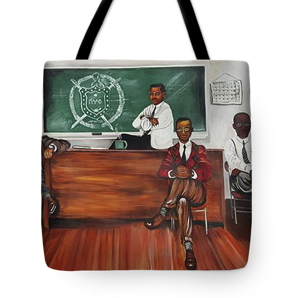 Omega Tote Bag featuring the painting Night Session by Charis Kelley