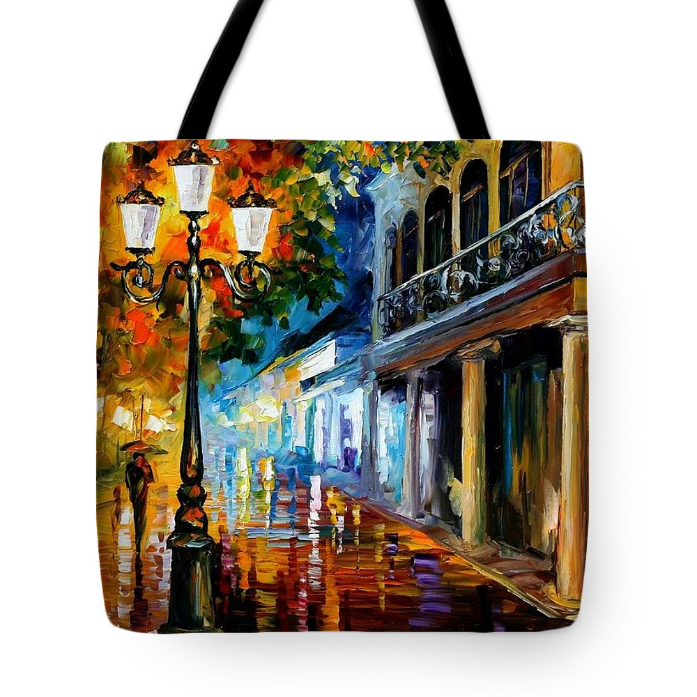 Afremov Tote Bag featuring the painting Night Transformation by Leonid Afremov