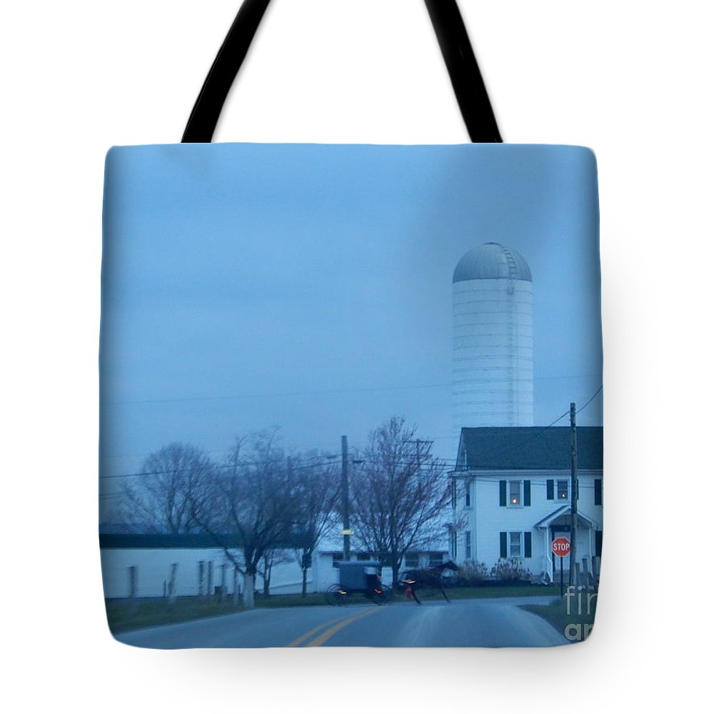 Amish Tote Bag featuring the photograph Nightfall by Christine Clark