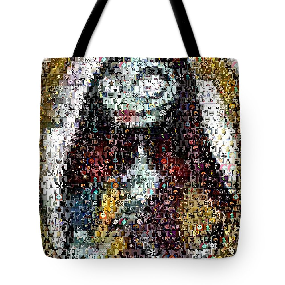 Nightmare Before Christmas Sally Mosaic Tote Bag for Sale by Paul ...