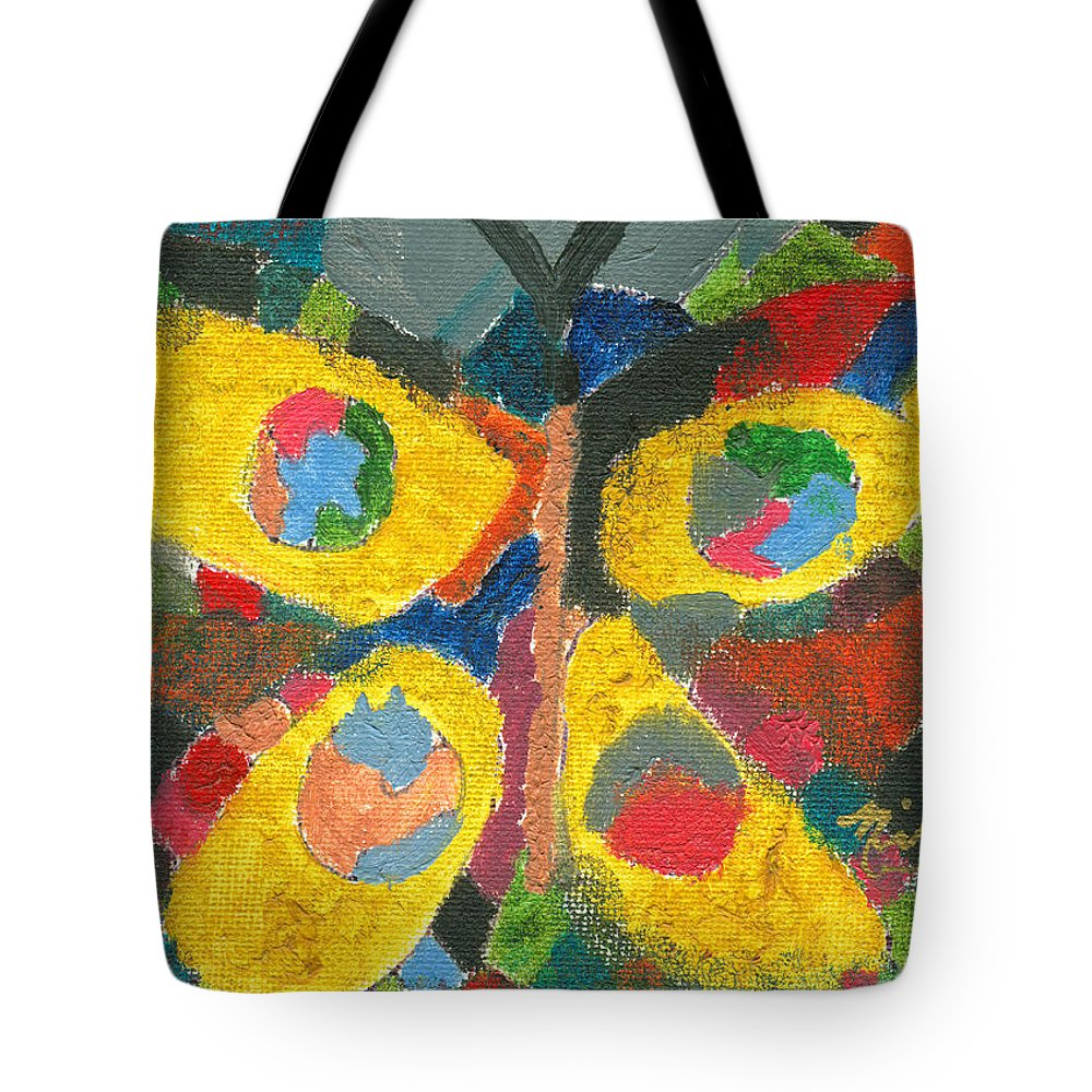 Butterfly Tote Bag featuring the painting Nikki's Butterfly by Jorge Delara