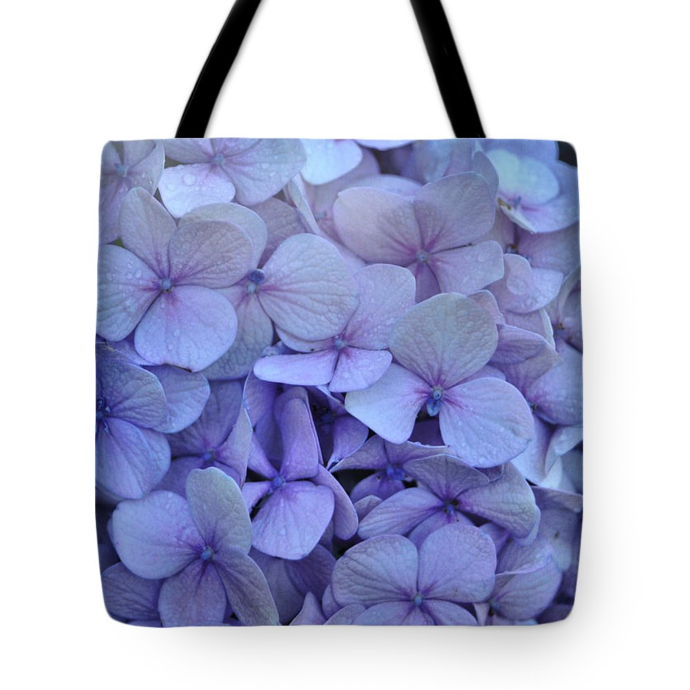 Cape Cod Tote Bag featuring the photograph Nikko Blue Petals by JAMART Photography