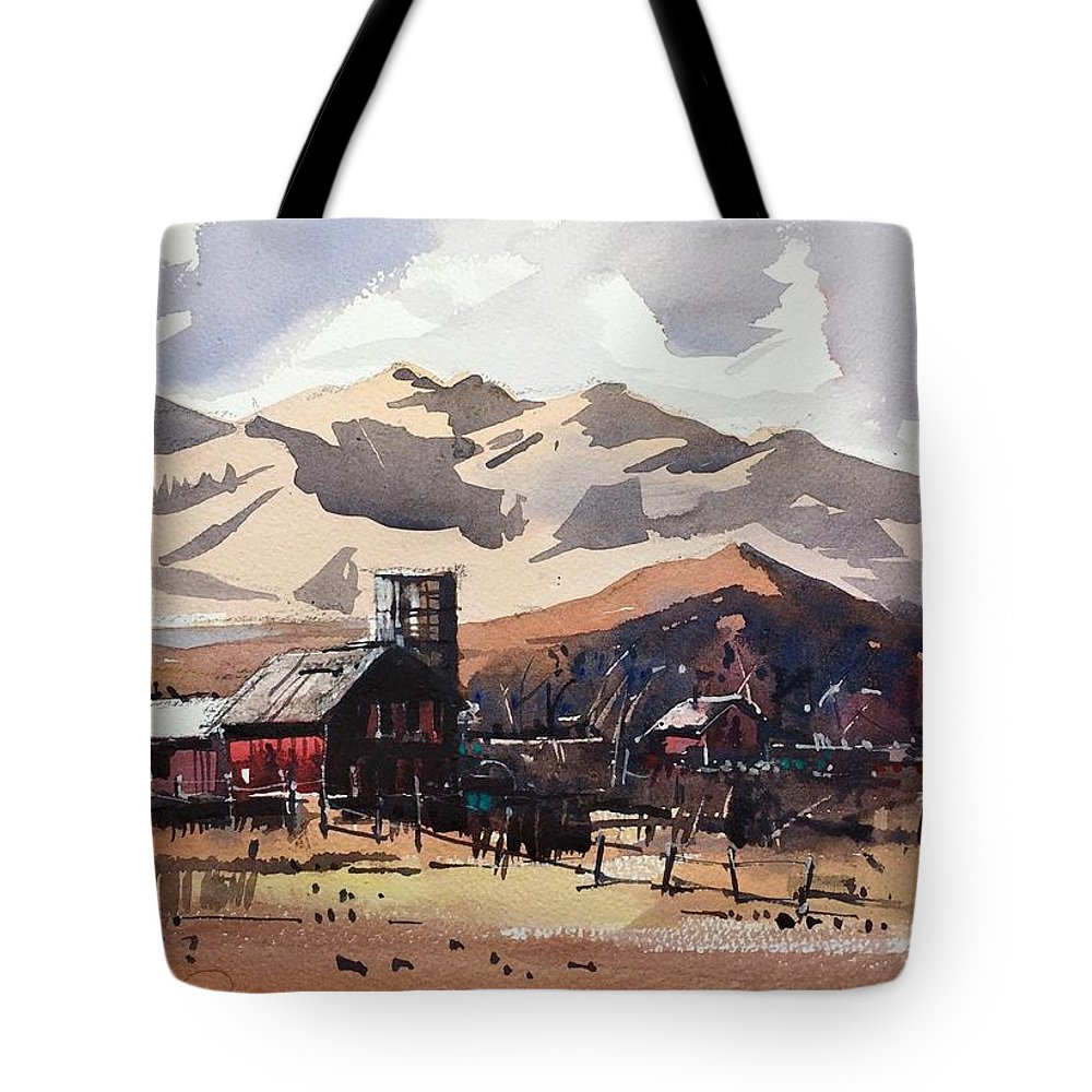 Niwot Boulder Colorado Front Range Landscape Watercolor Tote Bag featuring the painting Niwot Colorado by Ugljesa Janjic