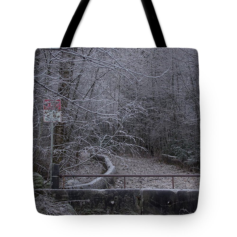 No Tote Bag featuring the photograph No Entry by Cindy Johnston
