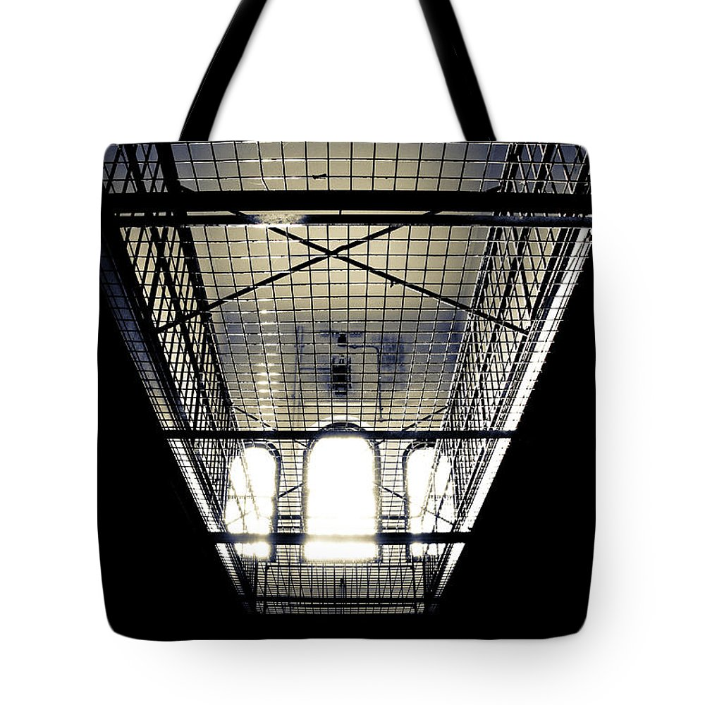 Sign Tote Bag featuring the photograph No Exit by Kelly Jade King