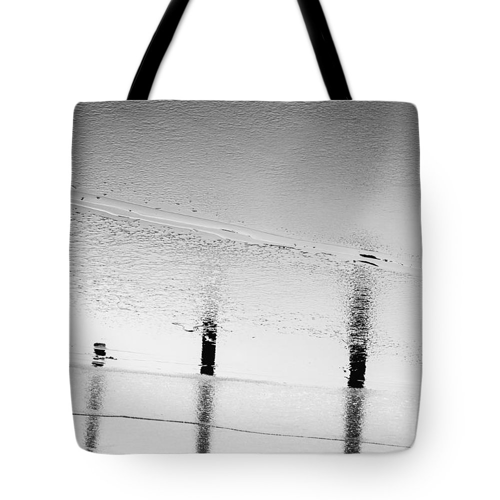Pole Tote Bag featuring the photograph No Ice Skating by Marcus Karlsson Sall