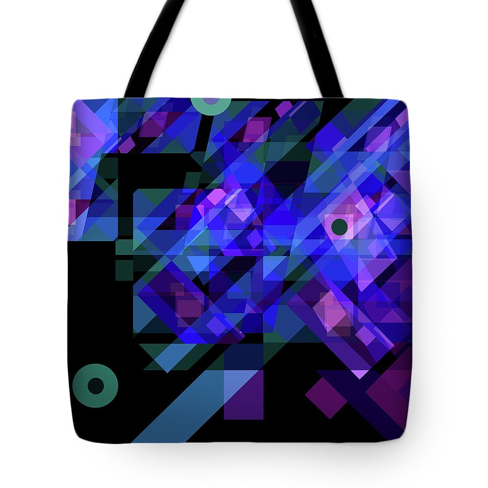 Abstract Tote Bag featuring the drawing No Illusions by Lynda Lehmann