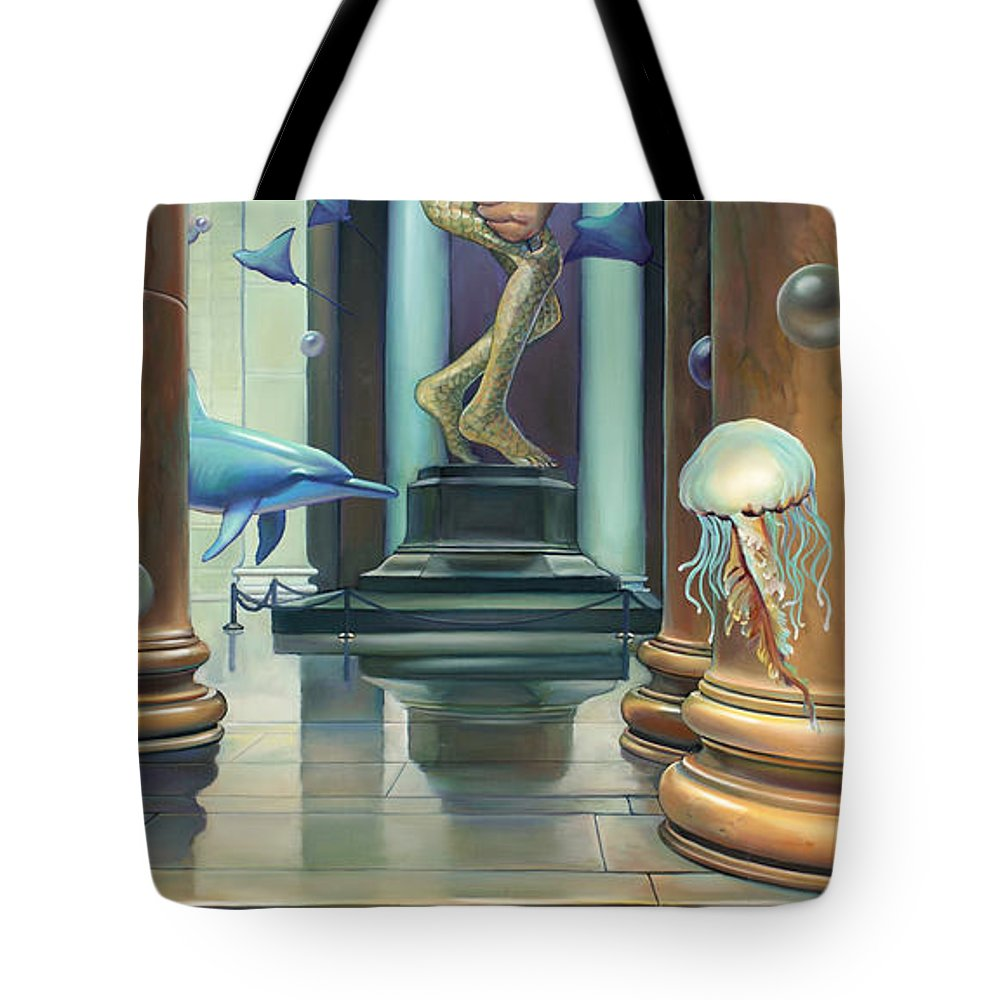 Merman Tote Bag featuring the painting No Limits Redux by Patrick Anthony Pierson