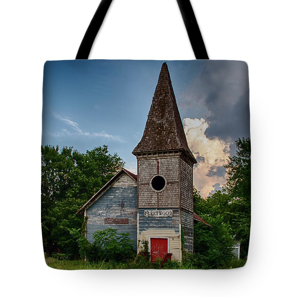 Church Tote Bag featuring the photograph No More Hallelujahs by Guy Shultz