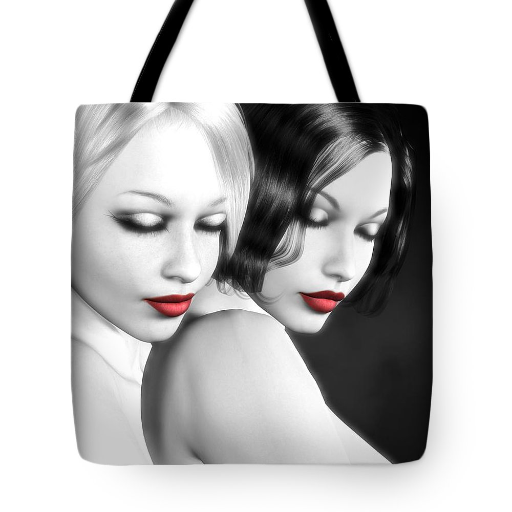 Sexy Tote Bag featuring the digital art No More Secrets by Alexander Butler