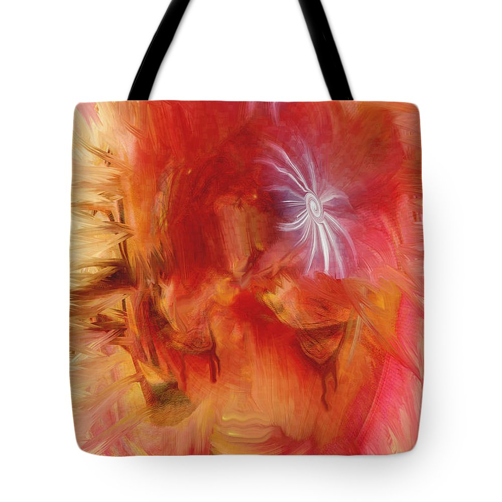 Tears Tote Bag featuring the digital art No More Tears by Linda Sannuti