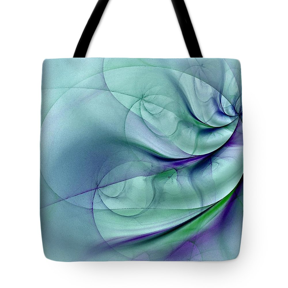 Contemporary Tote Bag featuring the digital art No More To Roam by NirvanaBlues