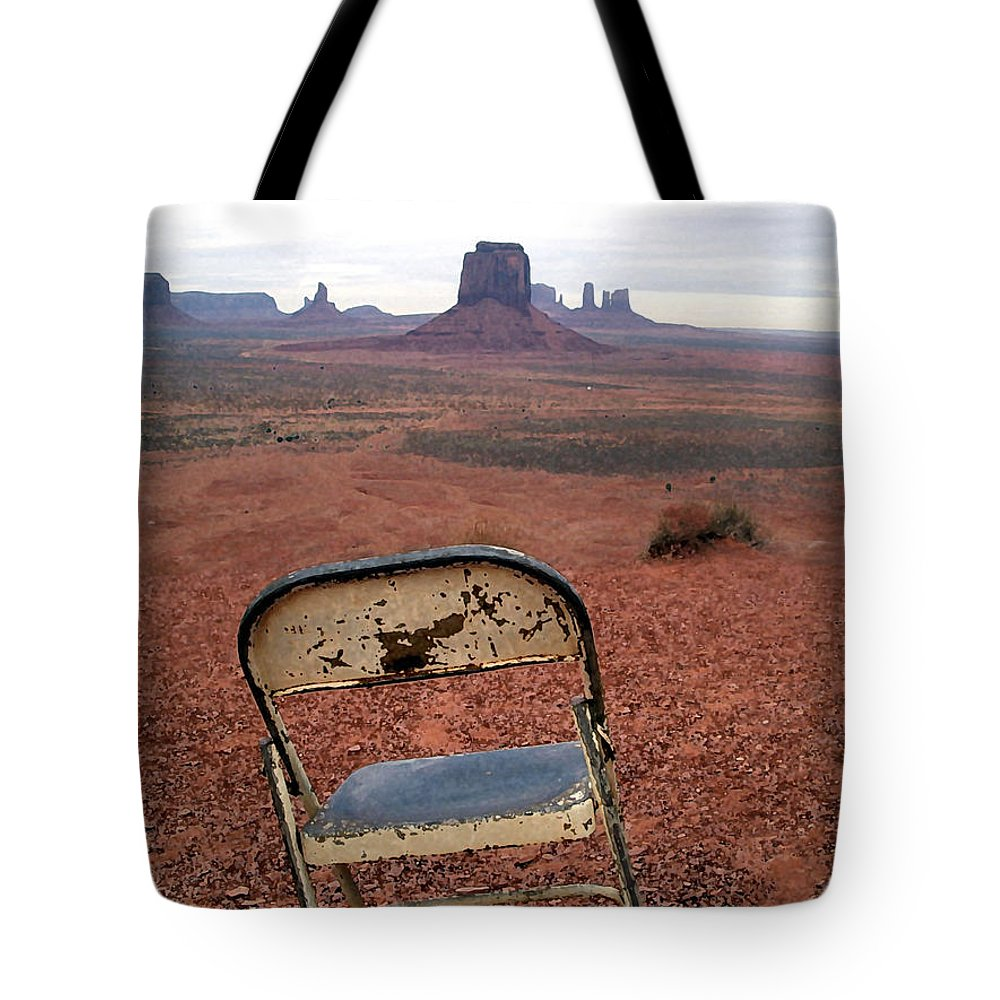 Desert Tote Bag featuring the photograph No One by Mary Haber