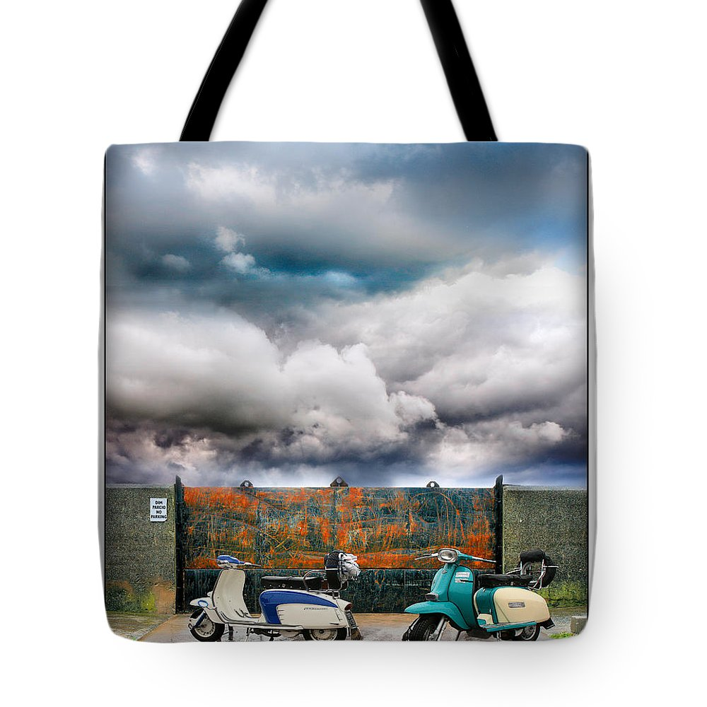 Scooters Tote Bag featuring the photograph No Parking by Mal Bray