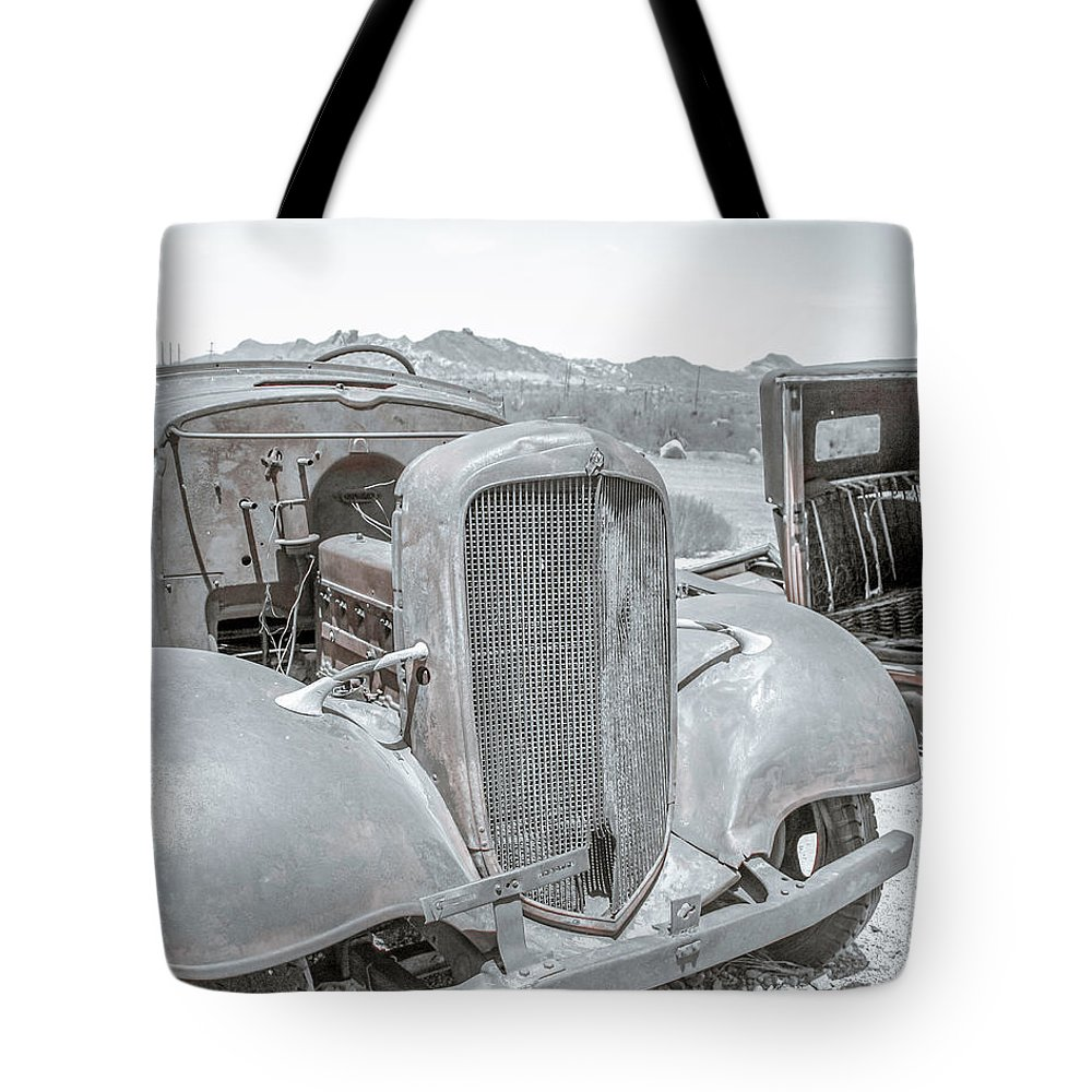 Ford Tote Bag featuring the photograph No Rust Here by Darrell Foster