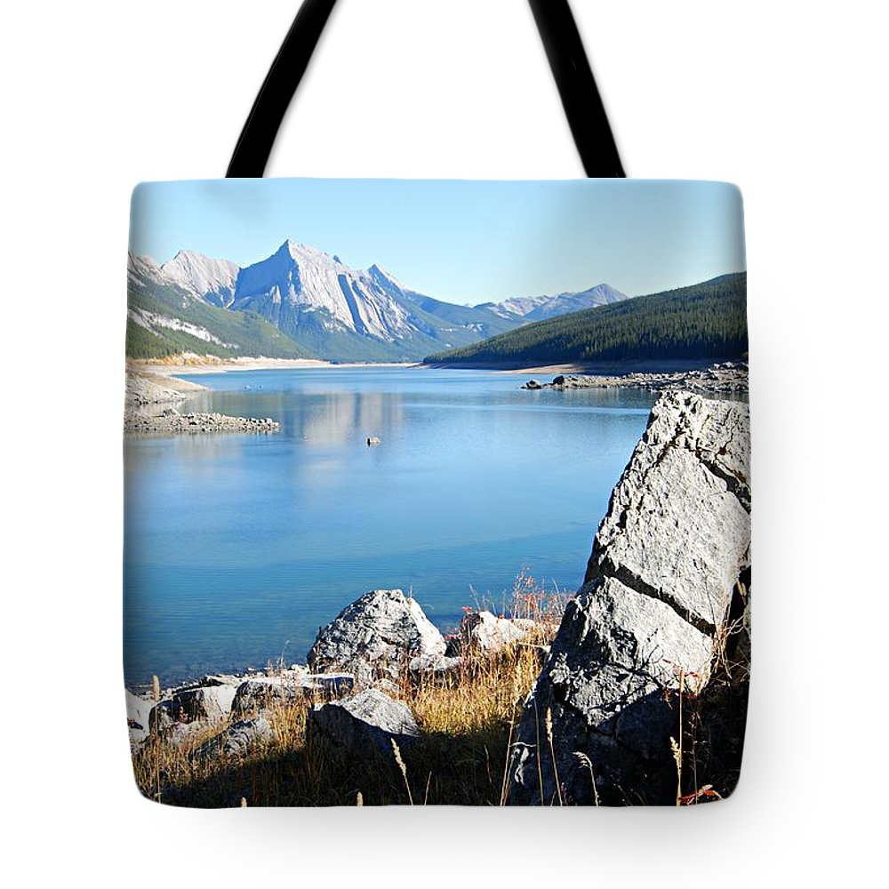 Medicine Lake Tote Bag featuring the photograph No Way Out by Larry Ricker