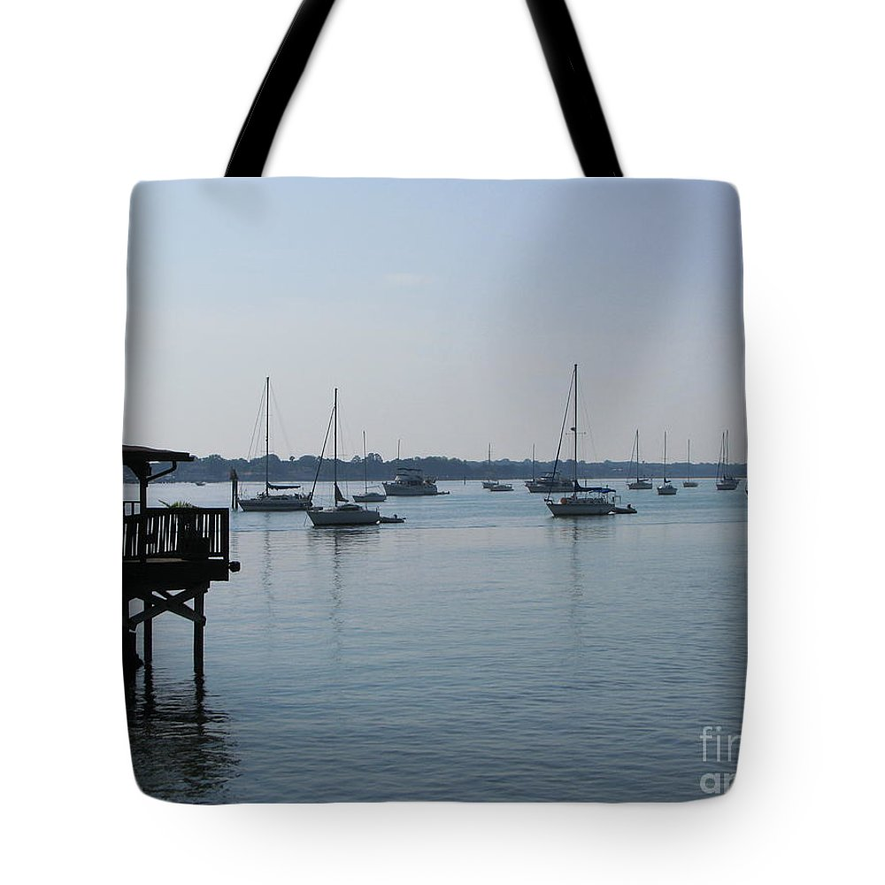 Art For The Wall...patzer Photography Tote Bag featuring the photograph No Wind by Greg Patzer