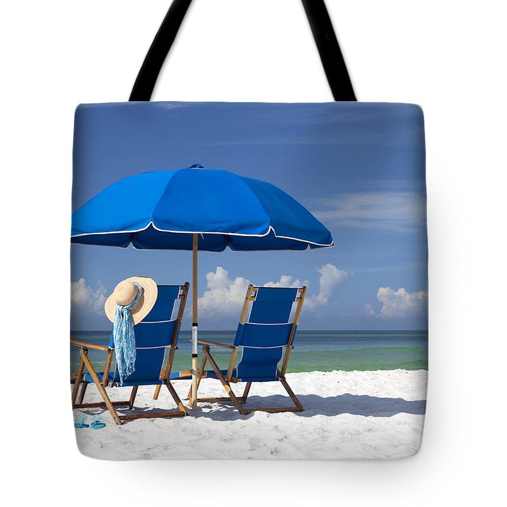 Beach Umbrella Tote Bags