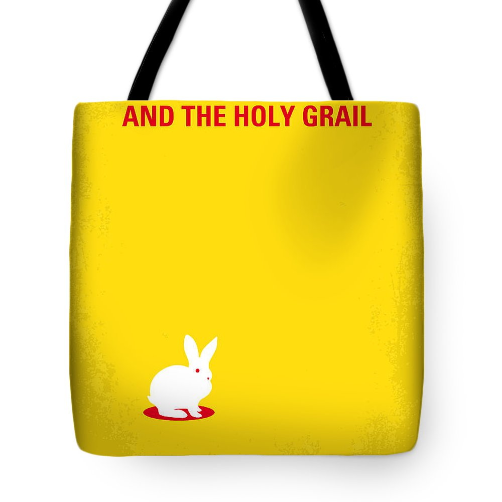 Monty Tote Bag featuring the digital art No036 My Monty Python And The Holy Grail Minimal Movie Poster by Chungkong Art