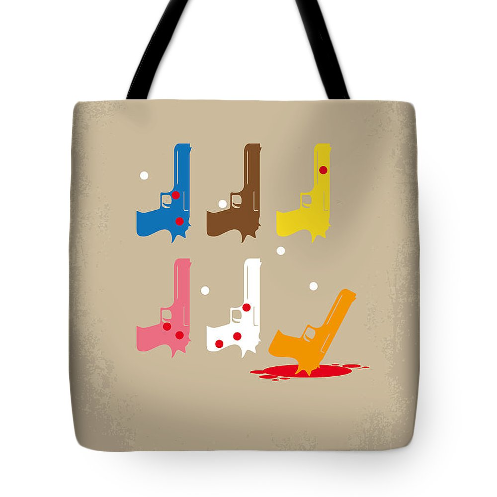 Reservoir Tote Bag featuring the digital art No069 My Reservoir Dogs Minimal Movie Poster by Chungkong Art