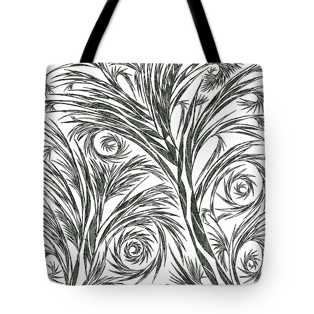 Abstract Tote Bag featuring the drawing No.1 by Robert Nickologianis