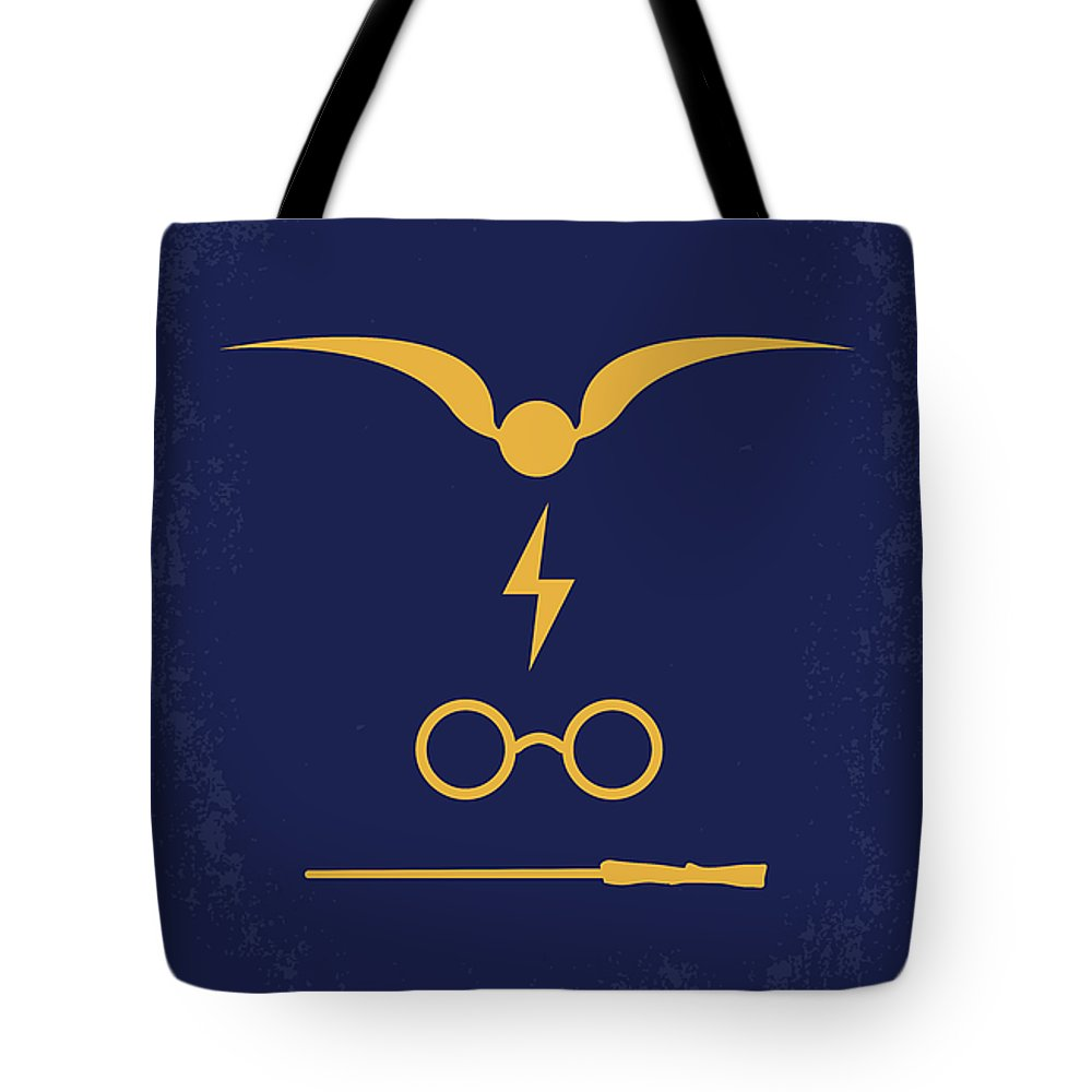 Harry Tote Bag featuring the digital art No101 My Harry Potter Minimal Movie Poster by Chungkong Art
