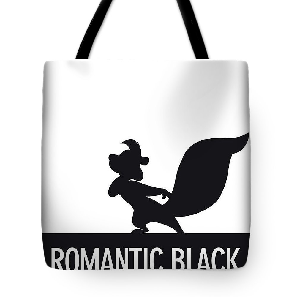 Looney Tote Bag featuring the digital art No13 My Minimal Color Code poster Pepe Le Pew by Chungkong Art