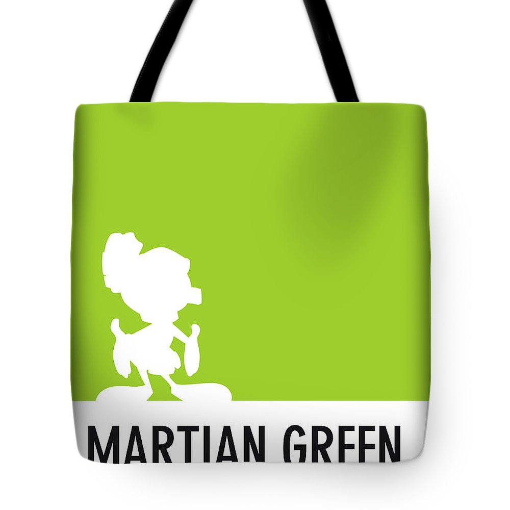 Looney Tote Bag featuring the digital art No15 My Minimal Color Code poster Marvin by Chungkong Art