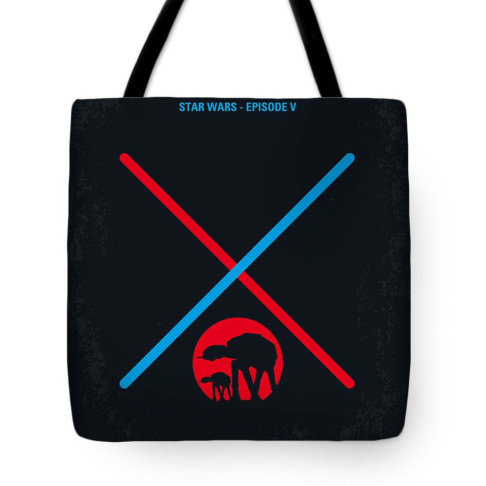 Star Tote Bag featuring the digital art No155 My Star Wars Episode V The Empire Strikes Back Minimal Movie Poster by Chungkong Art