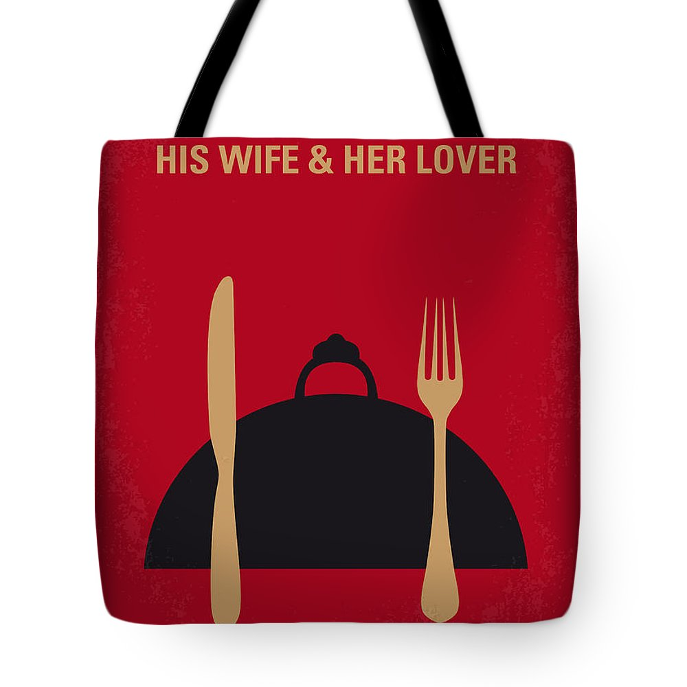 The Tote Bag featuring the digital art No487 My The Cook The Thief His Wife And Her Lover Minimal Movie by Chungkong Art
