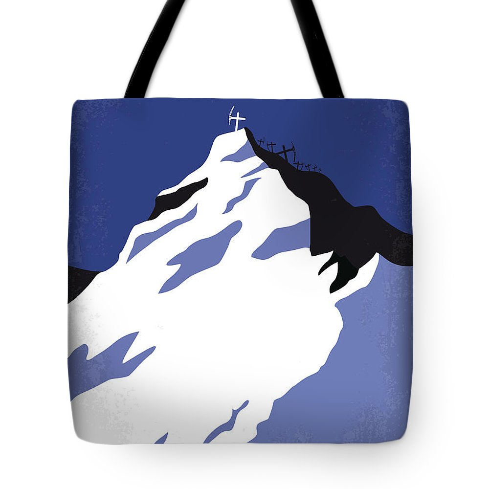 Everest Tote Bag featuring the digital art No492 My Everest Minimal Movie Poster by Chungkong Art