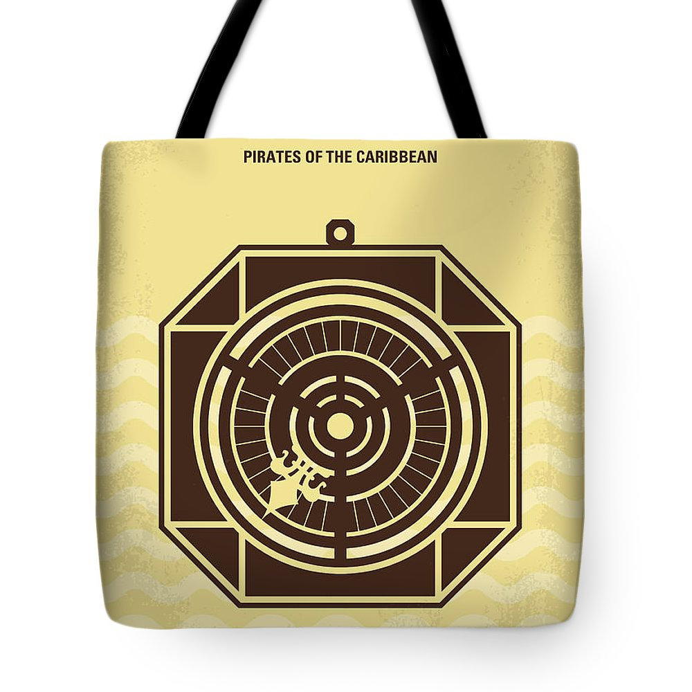 Pirates Tote Bag featuring the digital art No494-2 My Pirates Of The Caribbean II Minimal Movie Poster by Chungkong Art