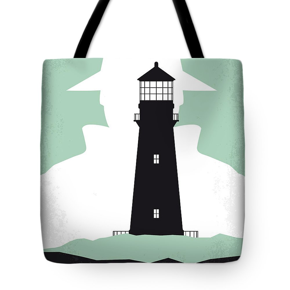 Shutter Tote Bag featuring the digital art No513 My Shutter Island Minimal Movie Poster by Chungkong Art