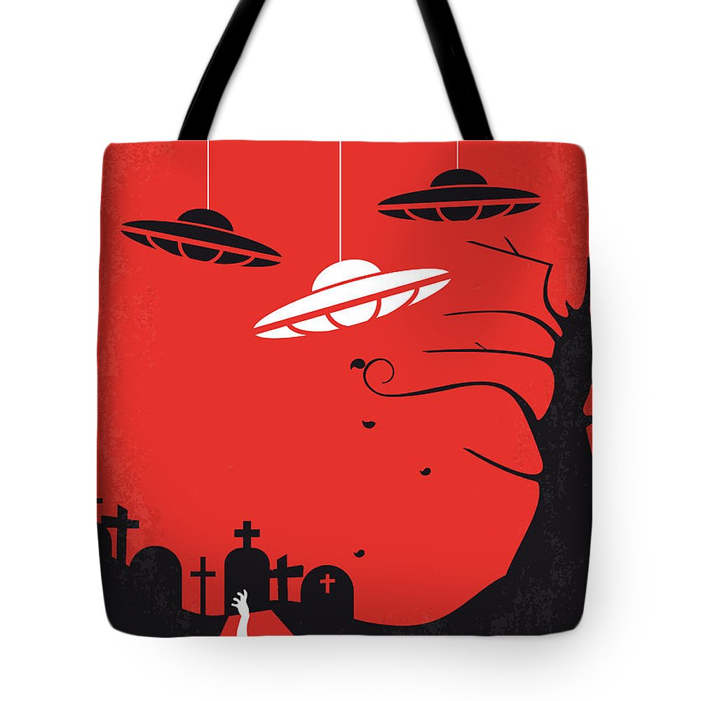 Plan 9 Tote Bag featuring the digital art No518 My Plan 9 From Outer Space Minimal Movie Poster by Chungkong Art