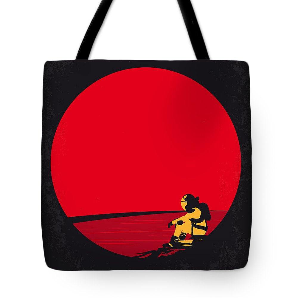 The Tote Bag featuring the digital art No620 My The Martian Minimal Movie Poster by Chungkong Art