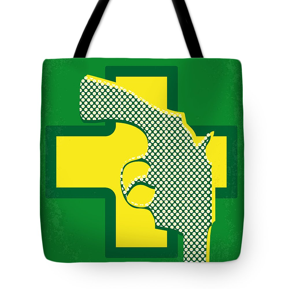 Drugstore Tote Bag featuring the digital art No628 My Drugstore Cowboy Minimal Movie Poster by Chungkong Art