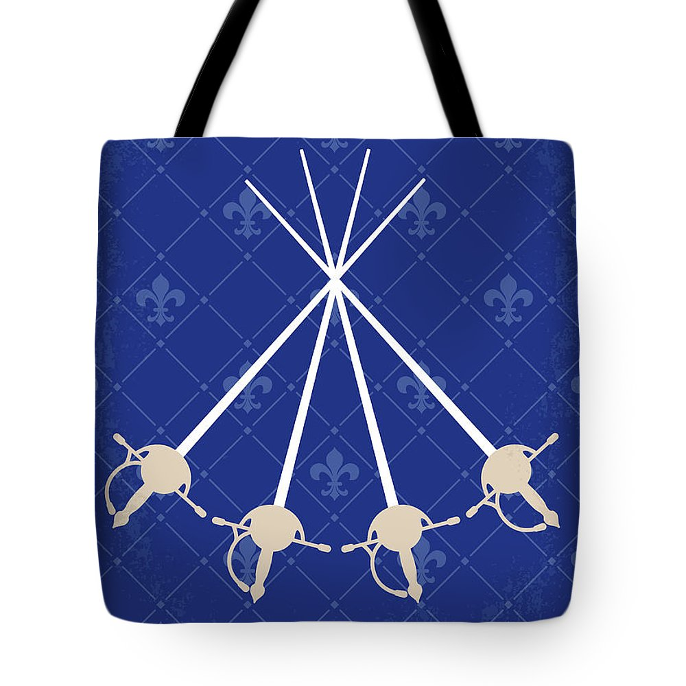 b76b3a08e01b Three Tote Bag featuring the digital art No724 My The Three Musketeers Minimal  Movie Poster by