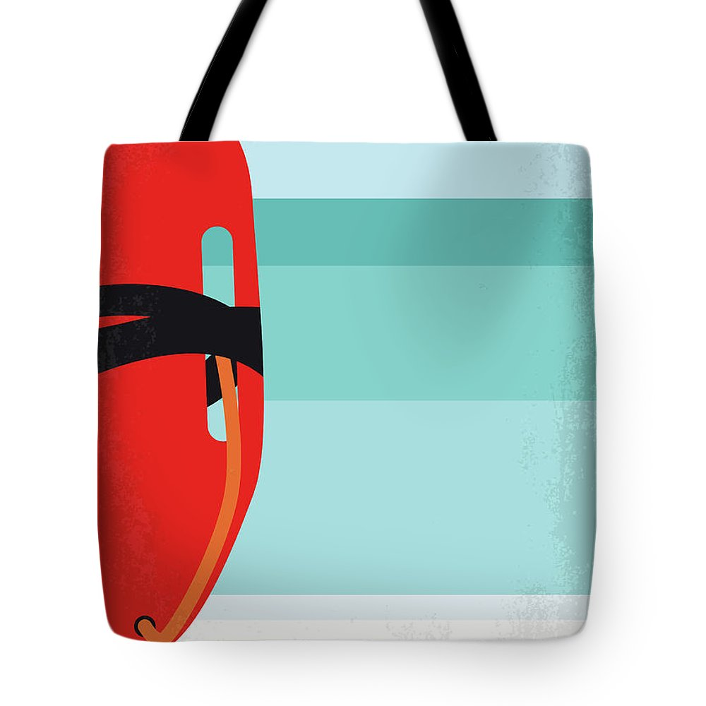 Baywatch Tote Bag featuring the digital art No730 My Baywatch Minimal Movie Poster by Chungkong Art