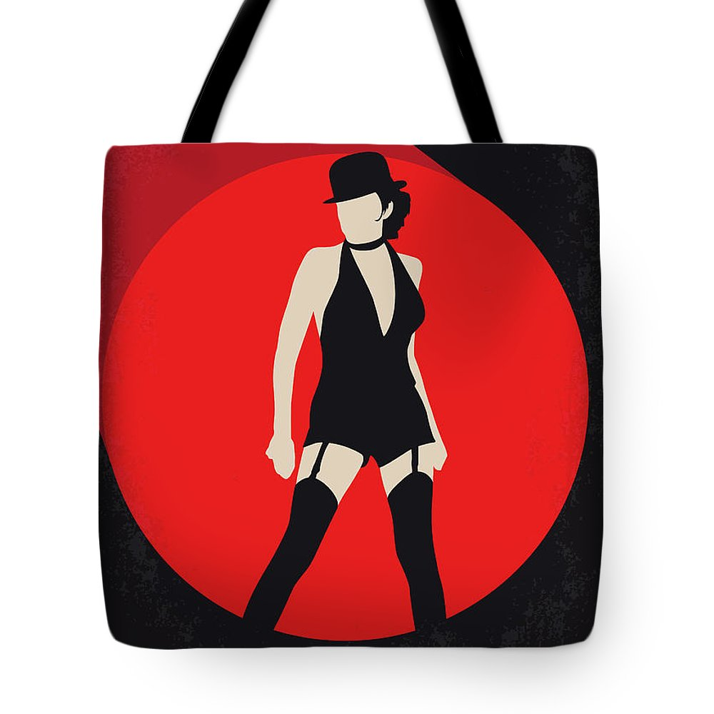 Cabaret Tote Bag featuring the digital art No742 My Cabaret Minimal Movie Poster by Chungkong Art