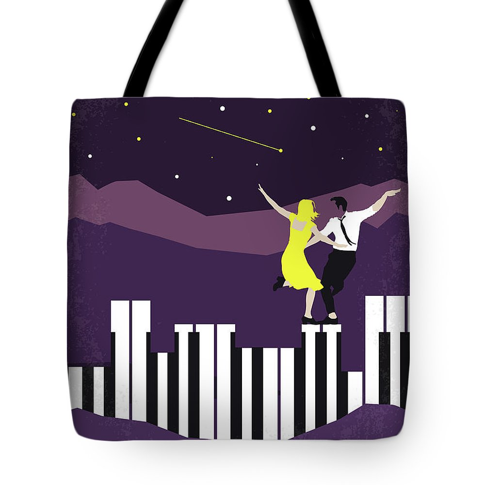 La Tote Bag featuring the digital art No756 My La La Land Minimal Movie Poster by Chungkong Art